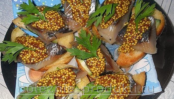 Бутерброды с семенами горчицы