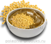 Горчичная паста и зерна горчицы