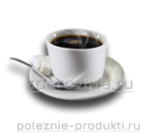 Чашка кофе на блюдце с сахаром