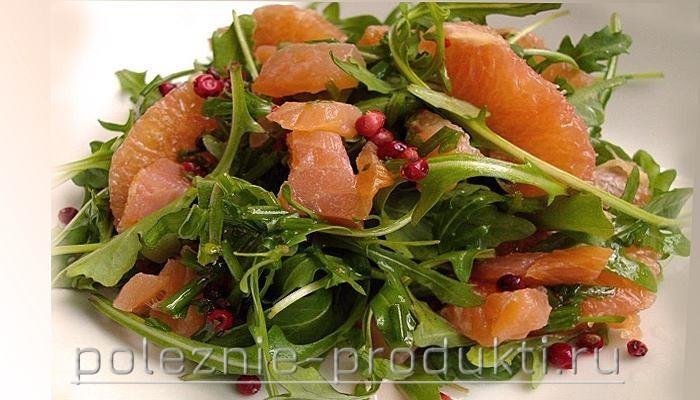 Салат из семги с зеленью