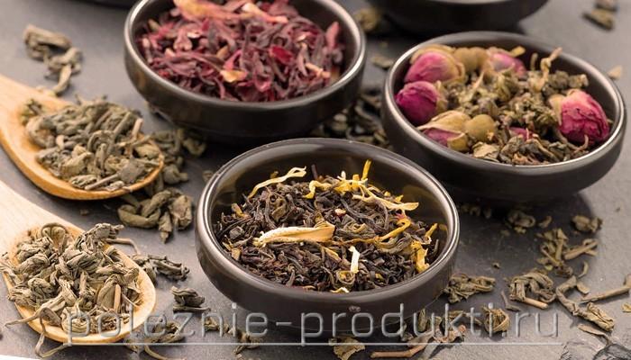 Разные сорта листового чая