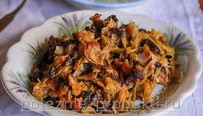 Солянка овощная с опятами