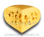 Кусок свежего сыра