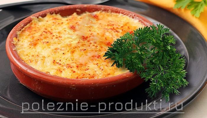 Сырная запеканка в тарелке