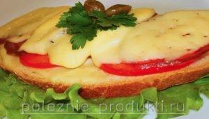 Бутерброд с сыром запеченный