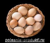 Яйца куриные свежие в корзинке