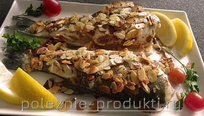 Рыба запеченная с миндальным орехом