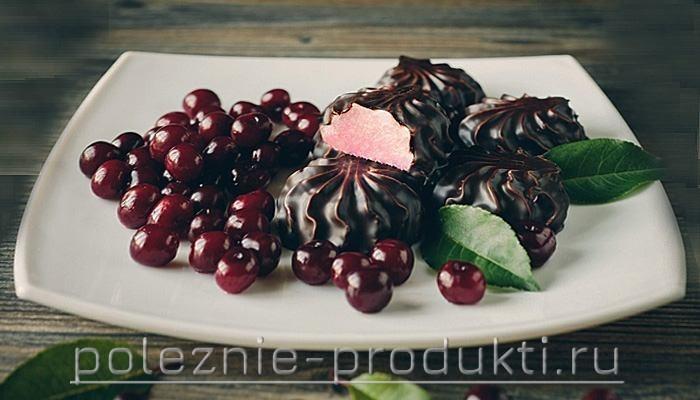 Зефир в шоколаде с вишней